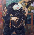 Payaso con guitarra