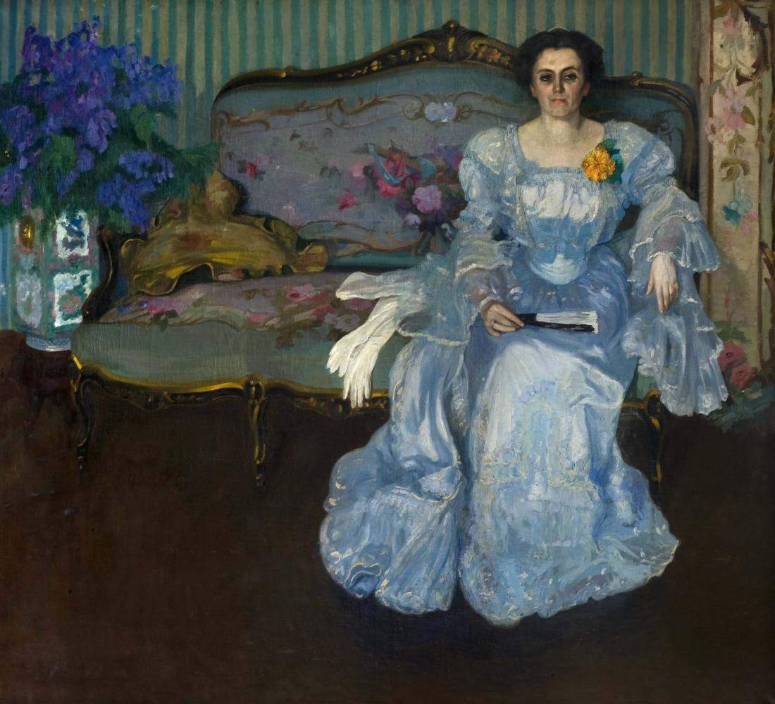 Obra ampliada: Retrato (Sra. María Castro de Figari) - Pedro Blanes Viale