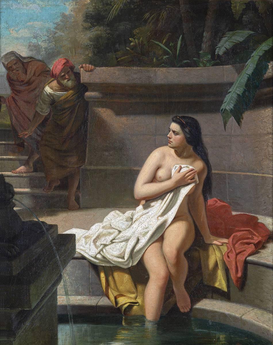 Obra ampliada: La casta Susana (boceto) - Juan Manuel Blanes