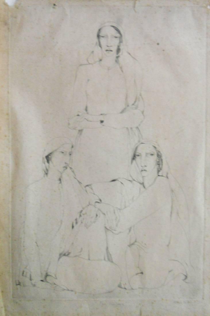 Obra ampliada: Tres mujeres - María Carmen Portela de Sosa