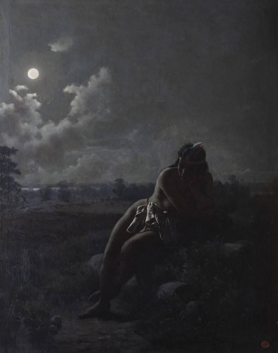 Obra ampliada: El ángel de los charrúas - Juan Manuel Blanes