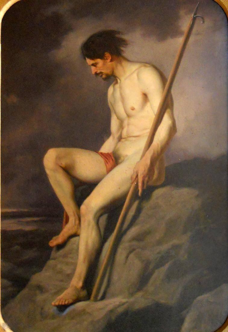 Obra ampliada: El náufrago - Juan Manuel Blanes