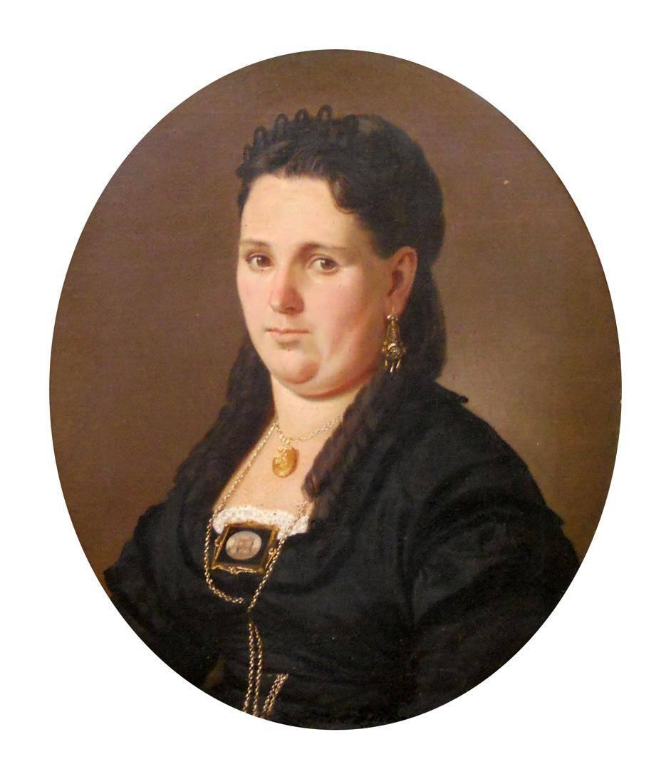Obra ampliada: Retrato (Sra. Concepción Arzac de Carrillo) - Juan Manuel Blanes