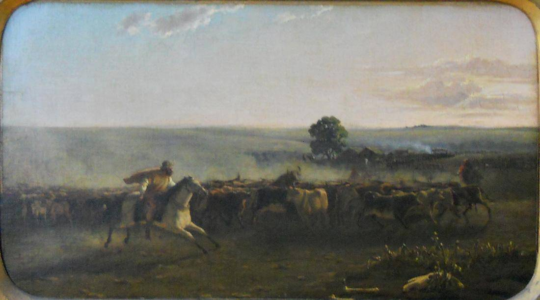 Obra ampliada: El rodeo - Juan Manuel Blanes