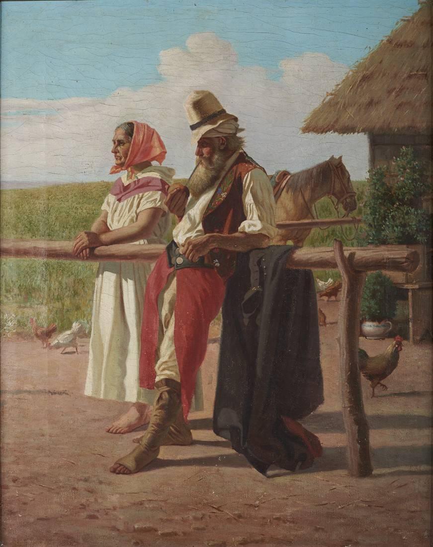 Obra ampliada: Uno de los tres chiripás - Juan Manuel Blanes