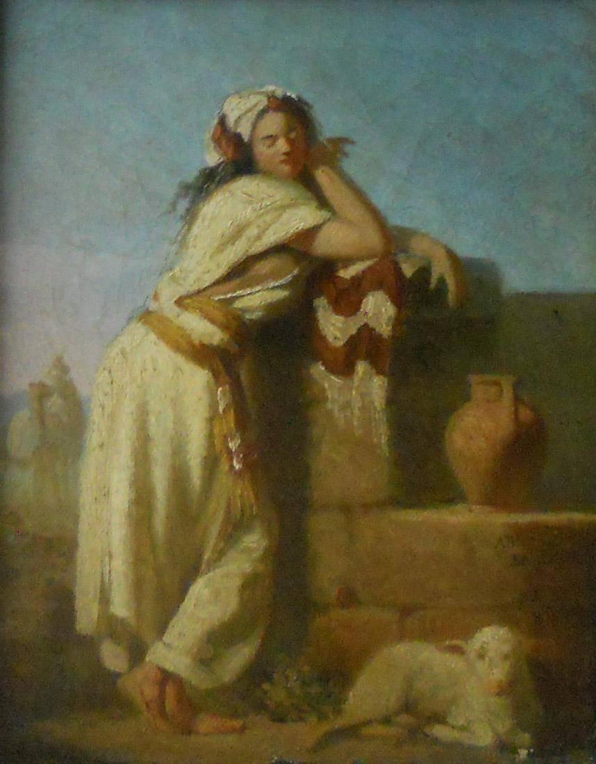 Obra ampliada: La samaritana (boceto) - Juan Manuel Blanes