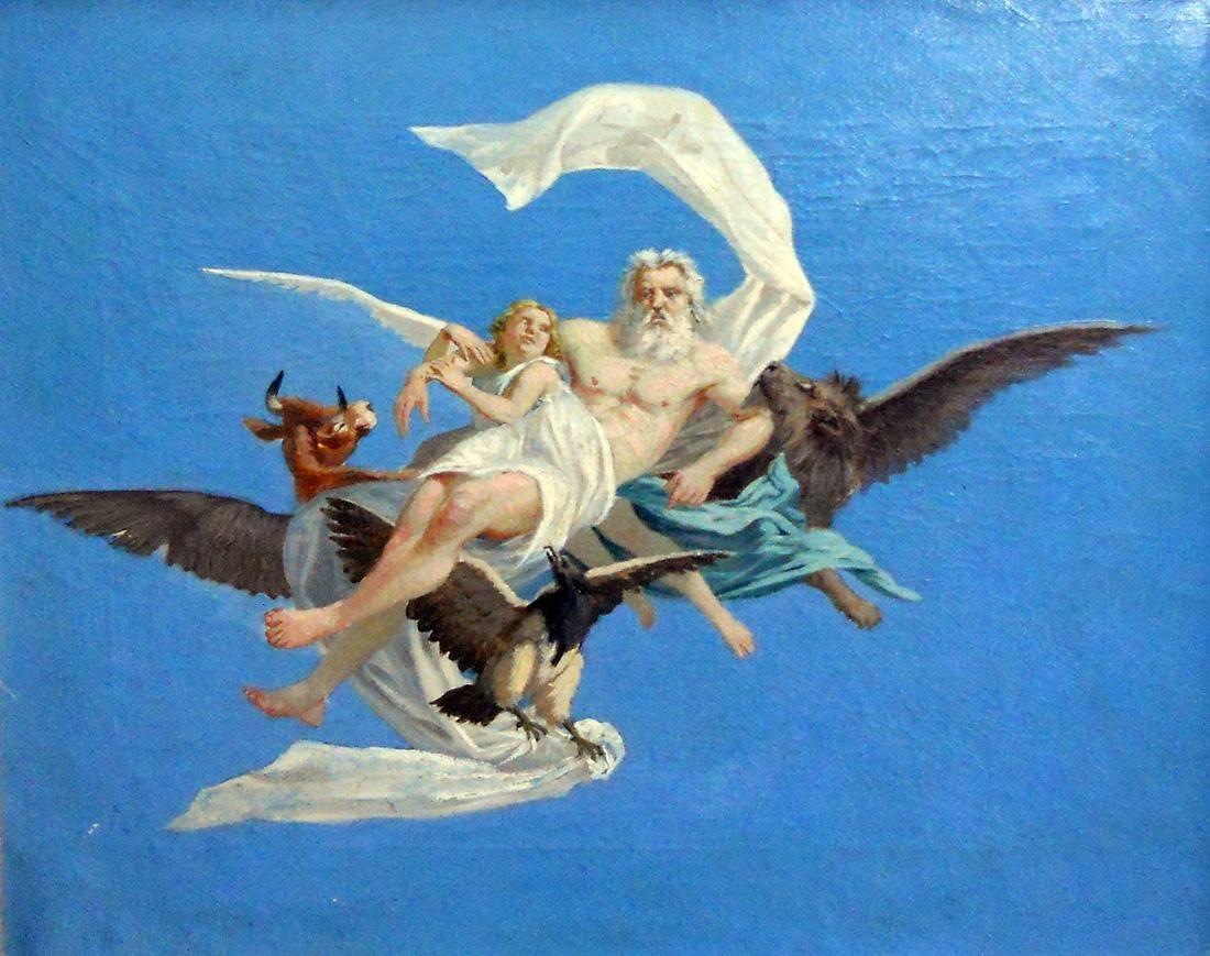 Obra ampliada: Boceto (El Padre Eterno) - Juan Manuel Blanes