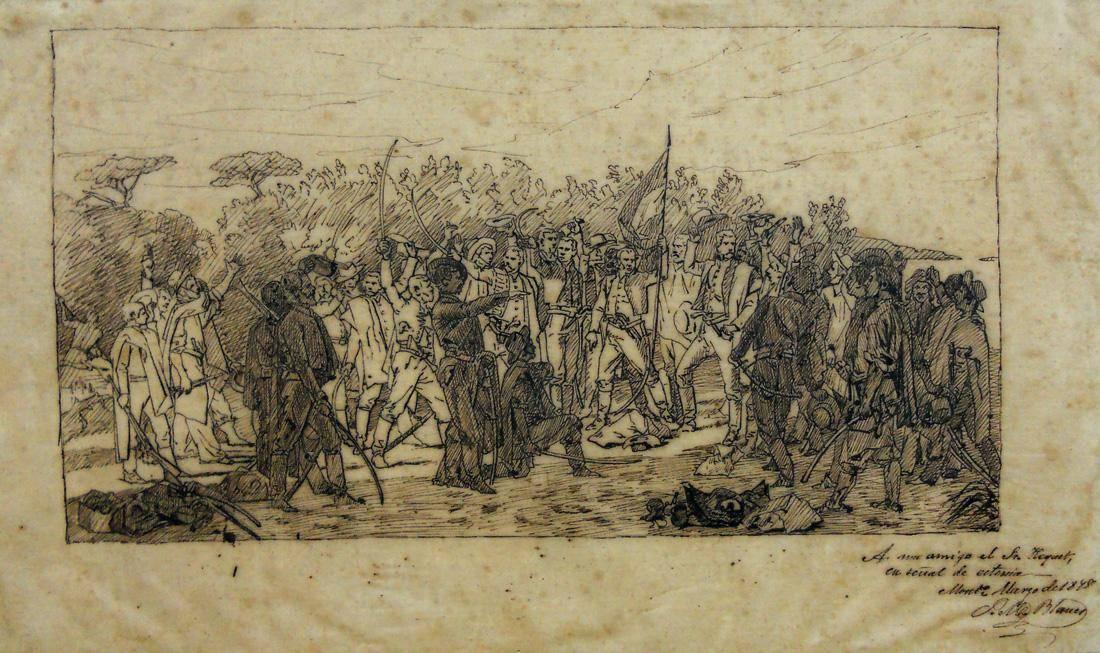 Obra ampliada: Boceto (Los 33 Orientales) - Juan Manuel Blanes