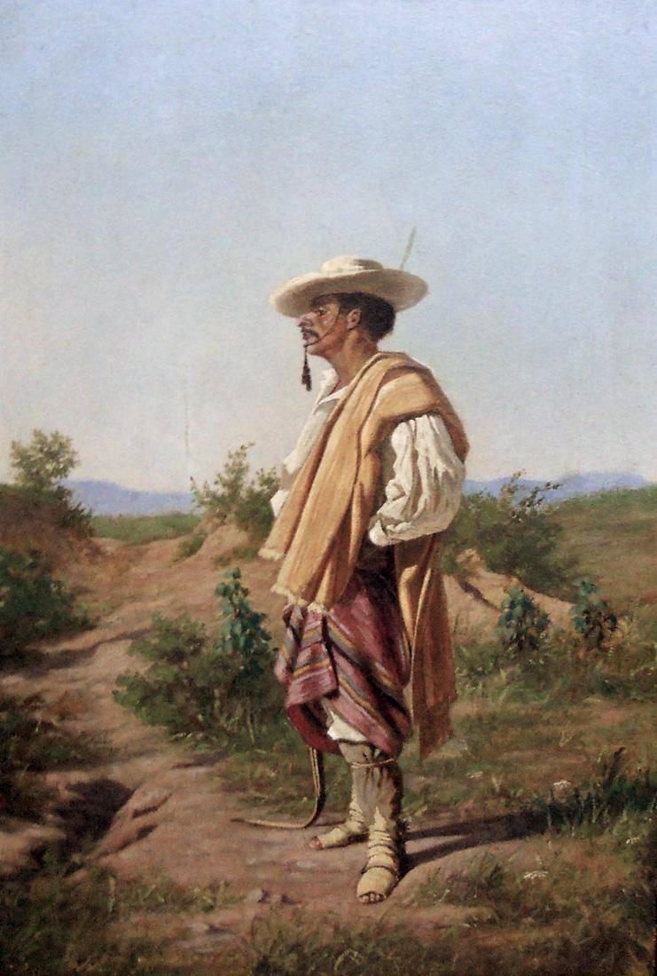 Obra ampliada: Gaucho oriental - Nicanor Blanes