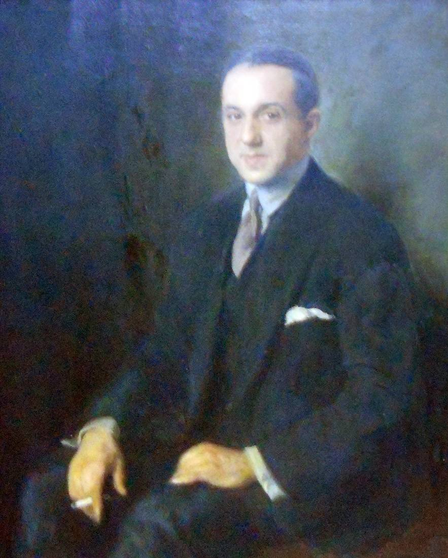 Obra ampliada: Retrato (S. F García) - Miguel Ángel del Pino y Sardá