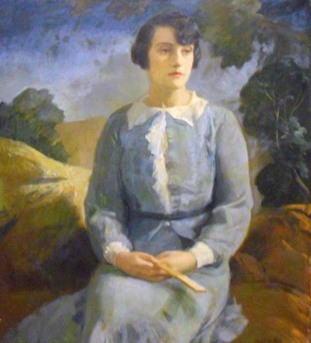 Obra ampliada: Retrato (Sra. María Elena Roch de García - Miguel Del Pino