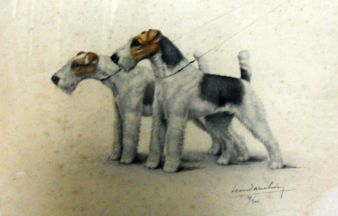 Obra ampliada: Dos perros - León Danchu