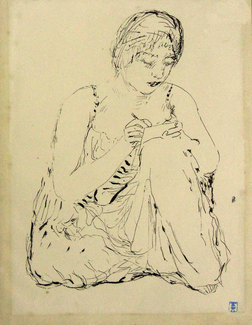 Obra ampliada: Mujer escribiendo - Pierre Bonnard