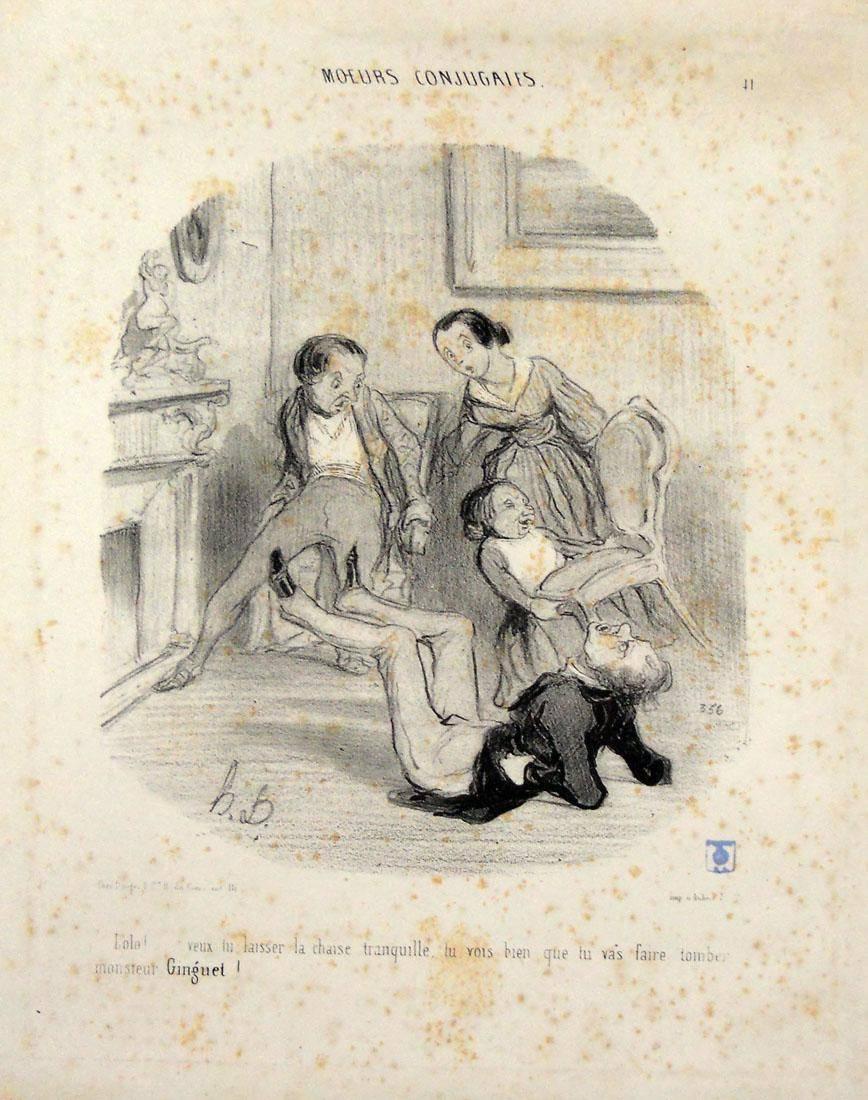 Obra ampliada: Costumbres conyugales - Honoré Daumier