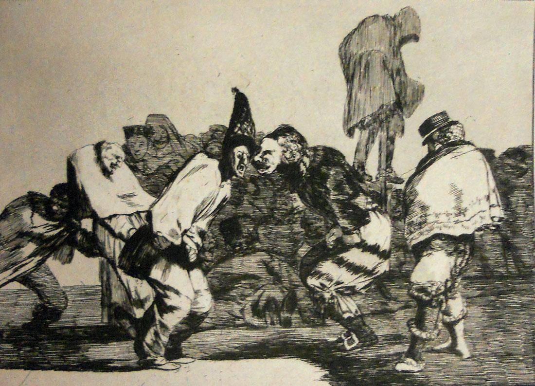 Obra ampliada: Riña - Francisco de Goya