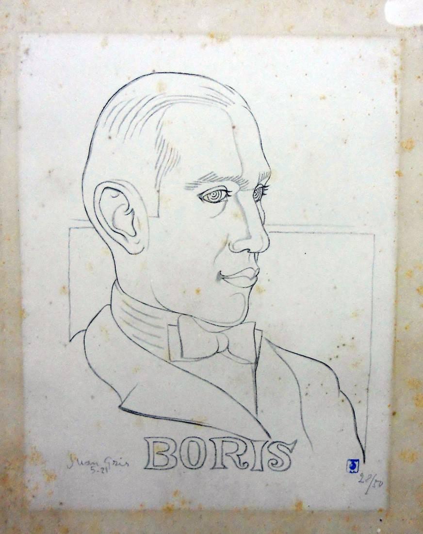 Obra ampliada: Boris - Juan Gris