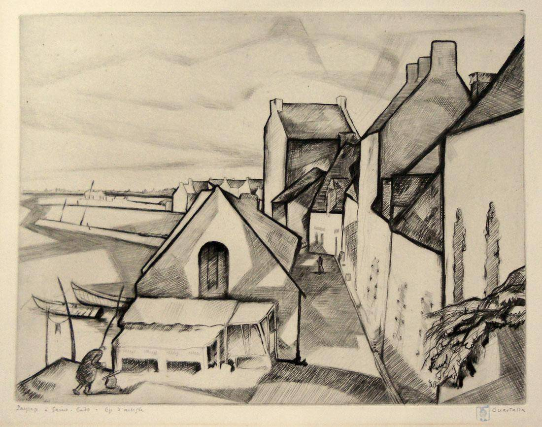 Obra ampliada: Paisaje de San Cado - Pierre Guastalla