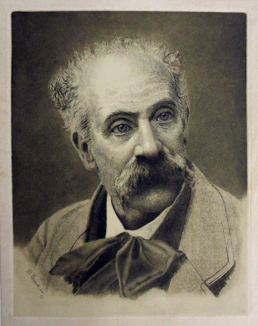 Obra ampliada: Retrato de Fattori - Domingo Laporte