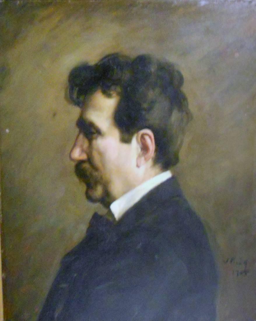 Obra ampliada: Retrato del artista Laporte - Vicente Puig