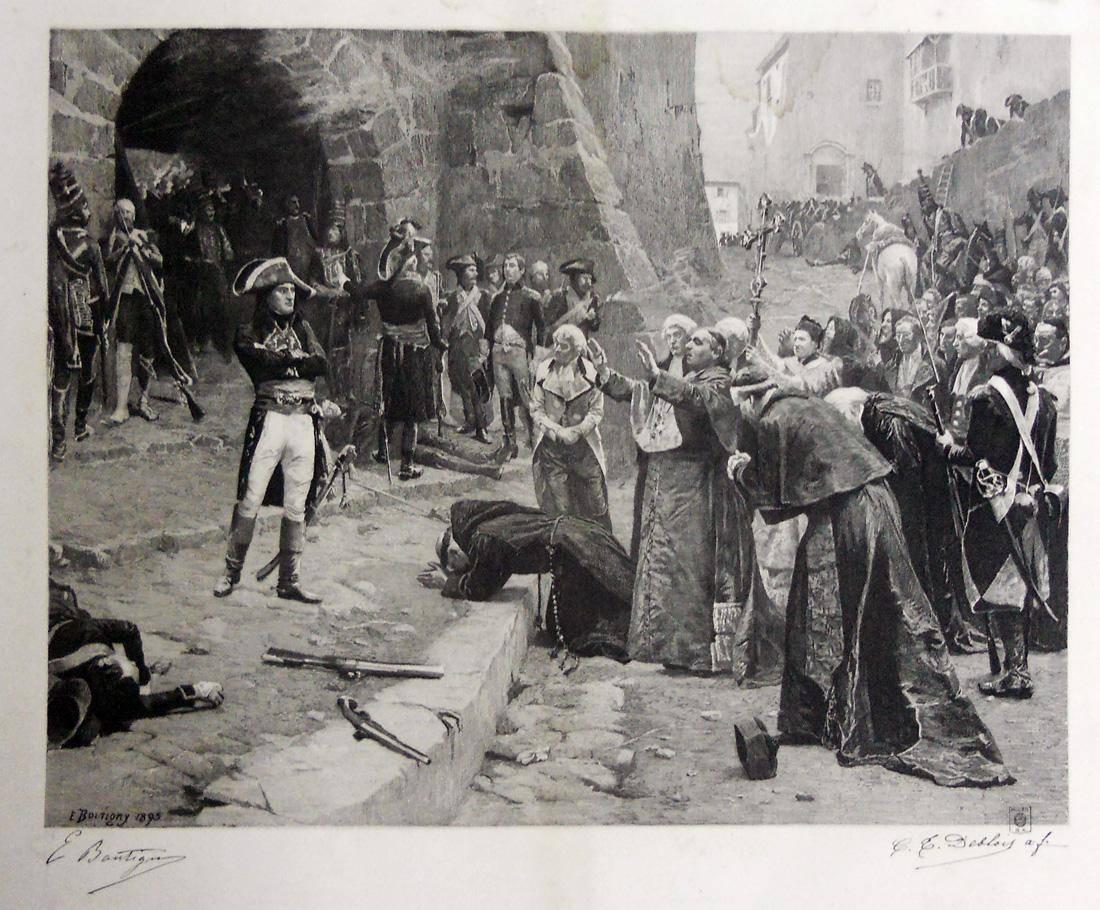 Obra ampliada: El gral. Bonaparte en la toma de Pavia - C.T. Debloise