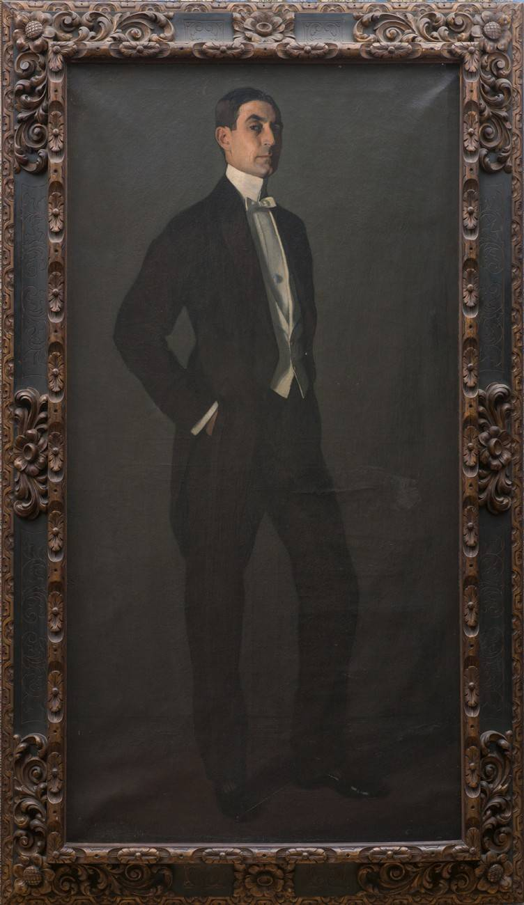Obra ampliada: Retrato del escritor Carlos Reyles - Ignacio Zuloaga