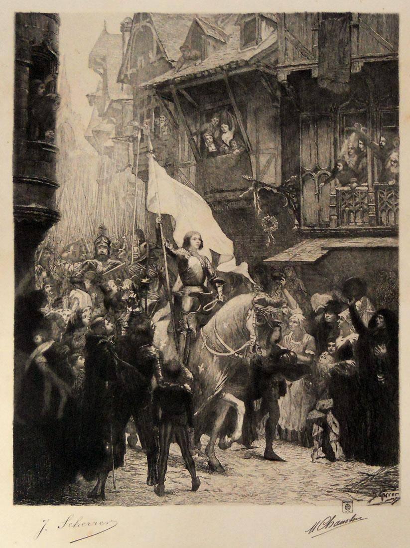 Obra ampliada: Entrada de Juana de Arco en Orleáns - M. Chambón