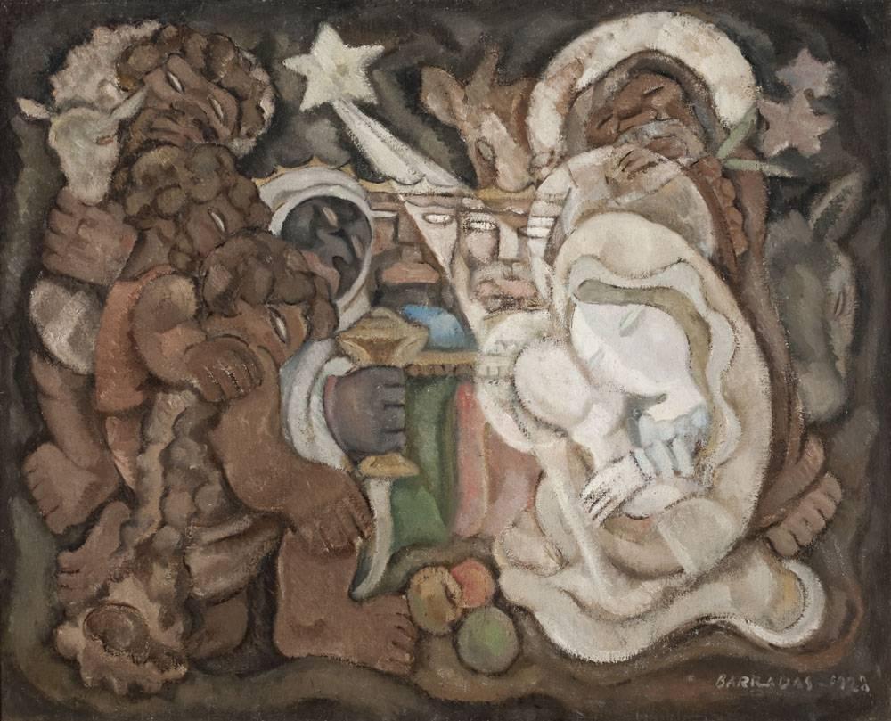 Obra ampliada: La adoración de los Reyes Magos y los pastores - Rafael Barradas