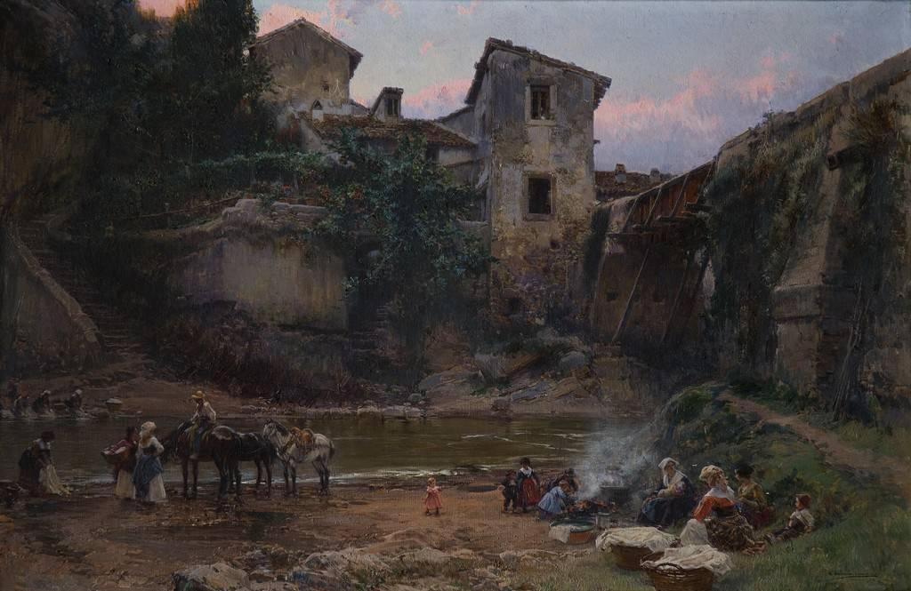 Obra ampliada: Lavanderas - Mariano Barbasán Lagueruela