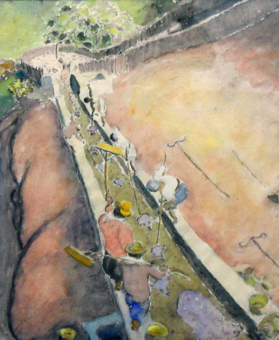 Obra ampliada: Baño de ovejas - José Cuneo