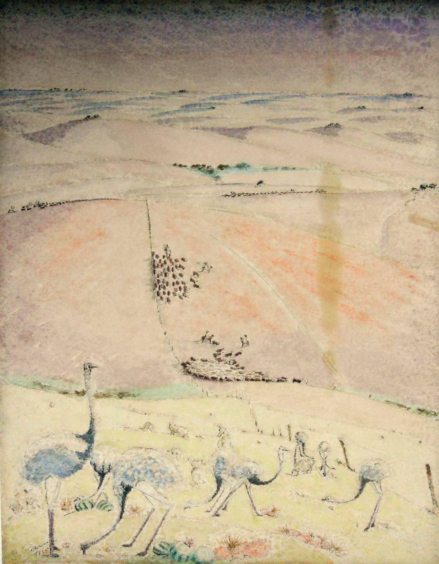 Obra ampliada: Avestruces - José Cuneo