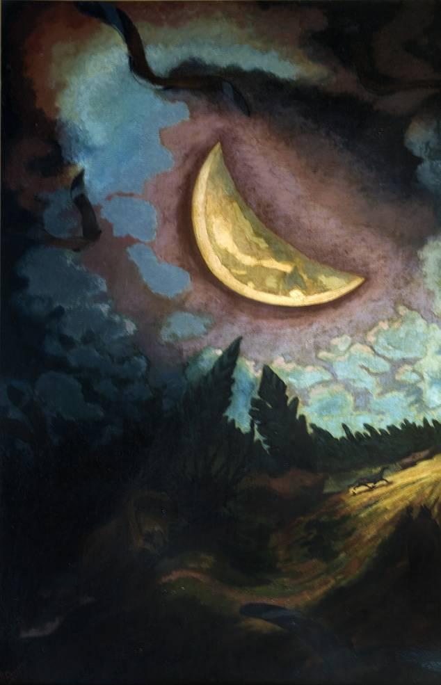 Obra ampliada: Luna con dormilones - José Cuneo