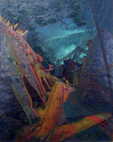 Obra ampliada: Camino con postes - José Cuneo