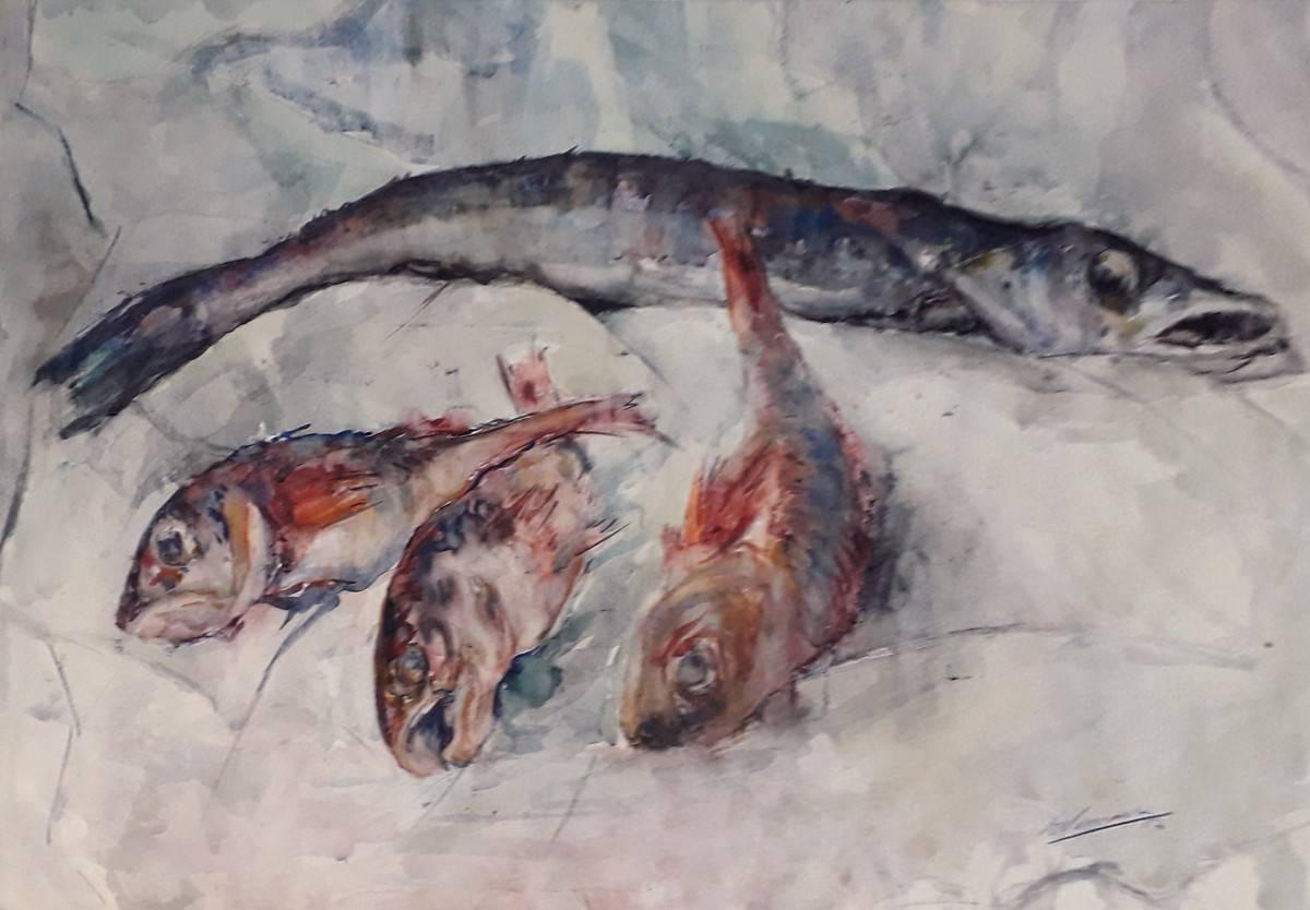 Obra ampliada: Pescados - Eduardo Vernazza