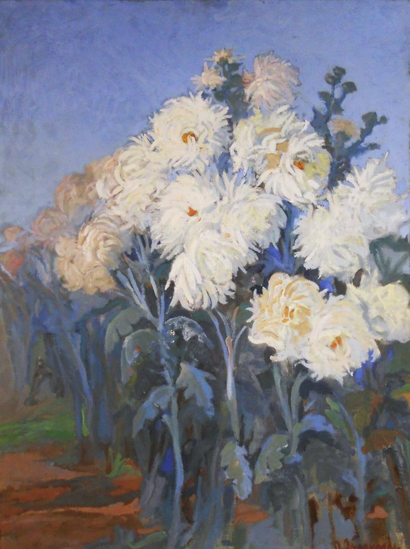 Obra ampliada: Crisantemos - Américo  Aragunde