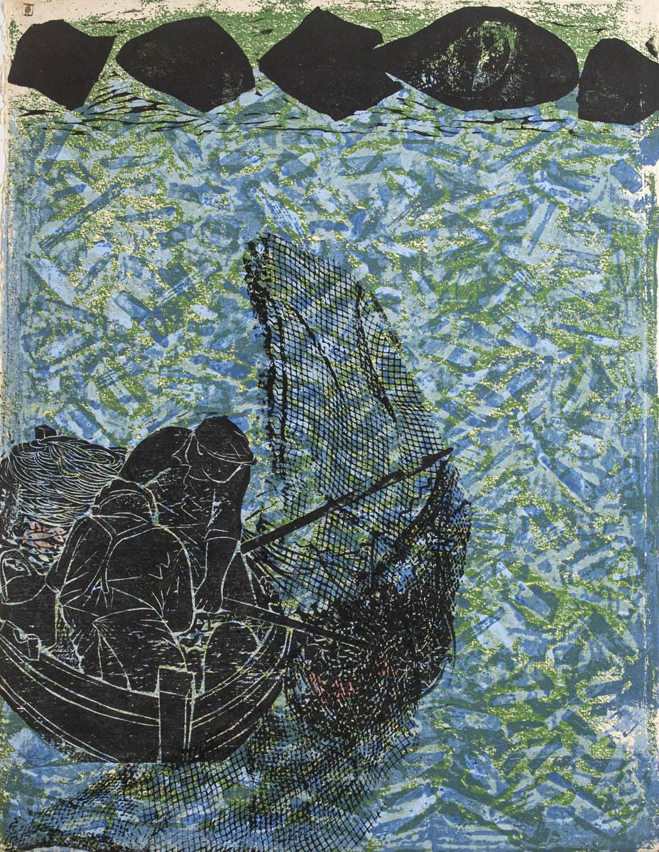 Obra ampliada: Serie: La pesca del atún - Antonio Frasconi