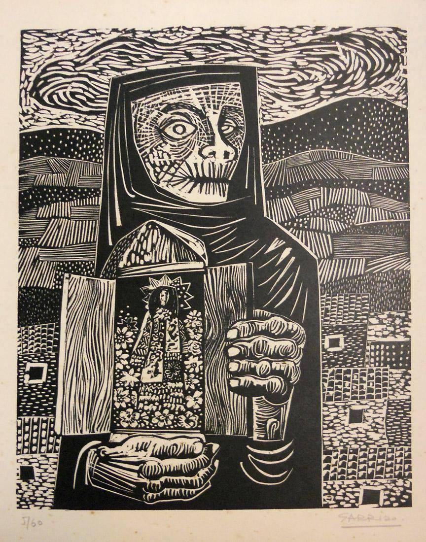 Obra ampliada: La santera - Luis Garrido Álvarez