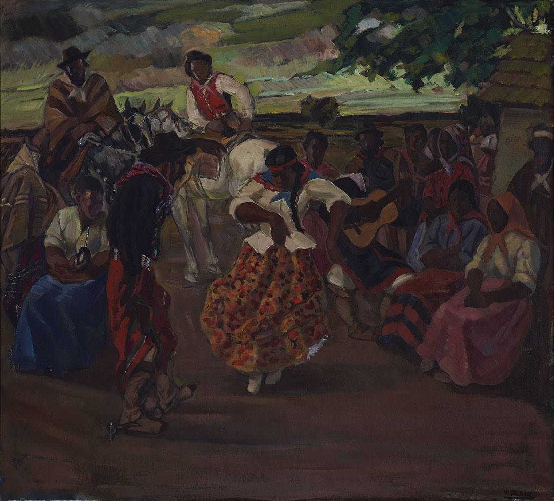 Obra ampliada: Baile criollo - Manuel Rosé