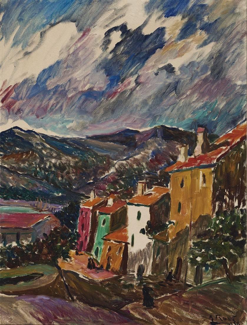 Obra ampliada: Villorrio de los Pirineos - Manuel Rosé