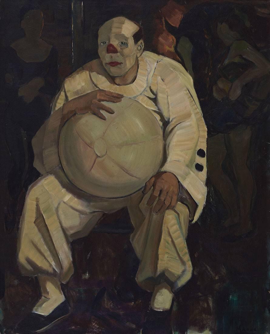 Obra ampliada: Payaso en blanco - Manuel Rosé
