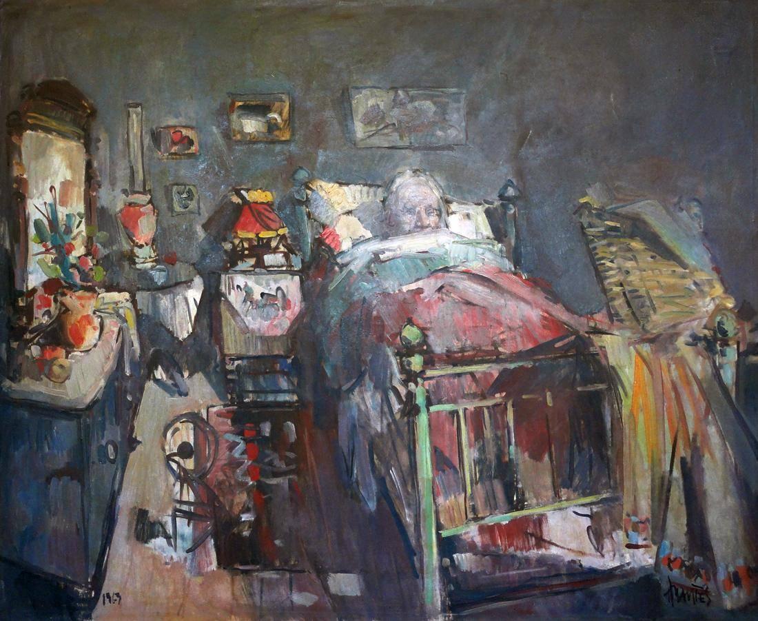 Obra ampliada: Doña Albina en la cama - Hugo Nantes