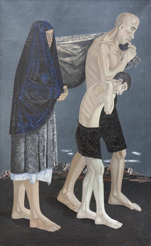 Obra ampliada: Huida - Jorge Damiani