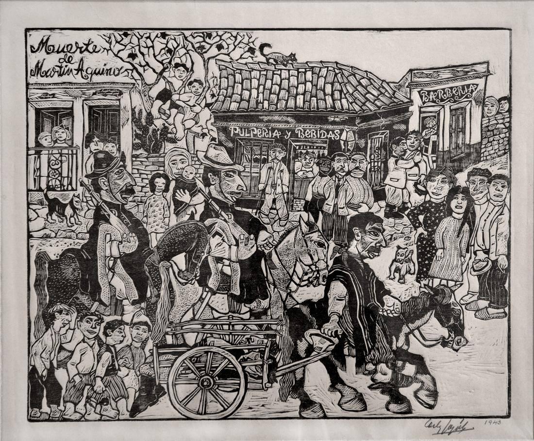 Obra ampliada: La muerte de Martín Aquino - Carlos Casiano González