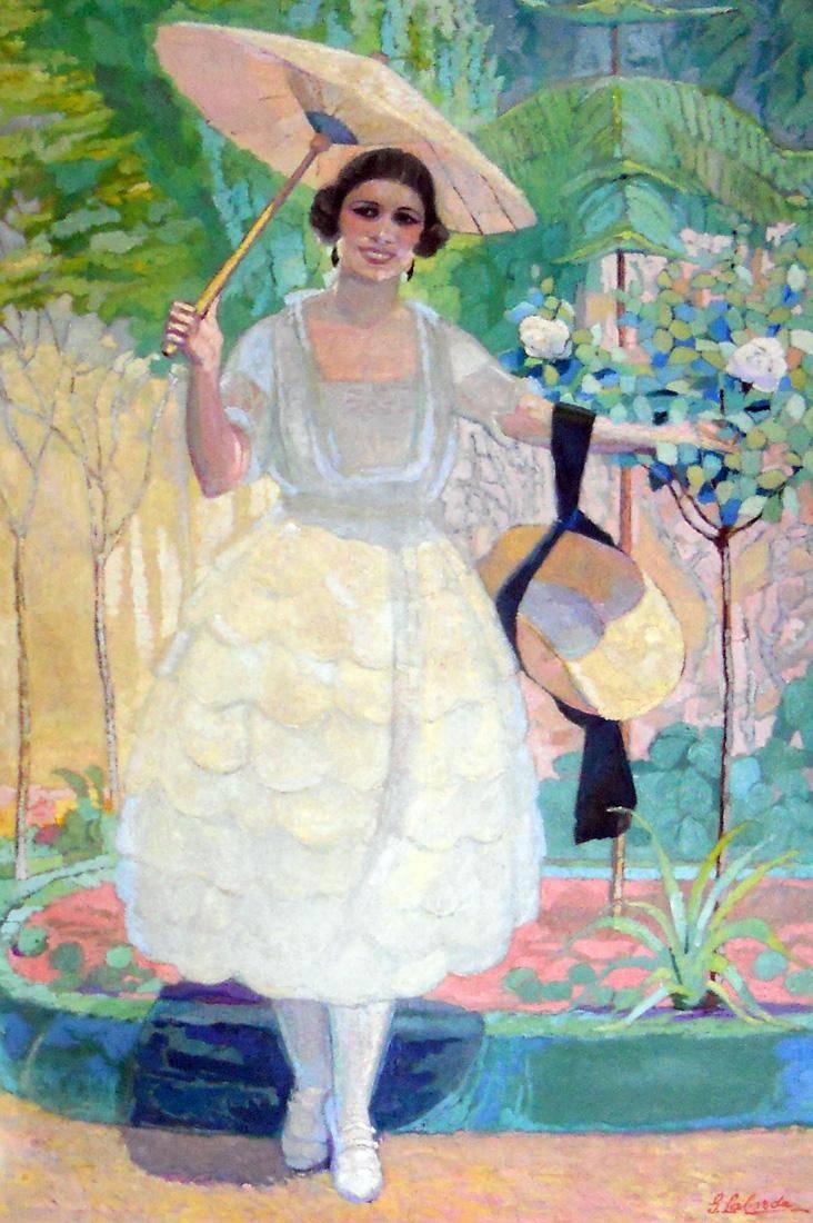 Obra ampliada: La dama de la sombrilla - Guillermo Laborde