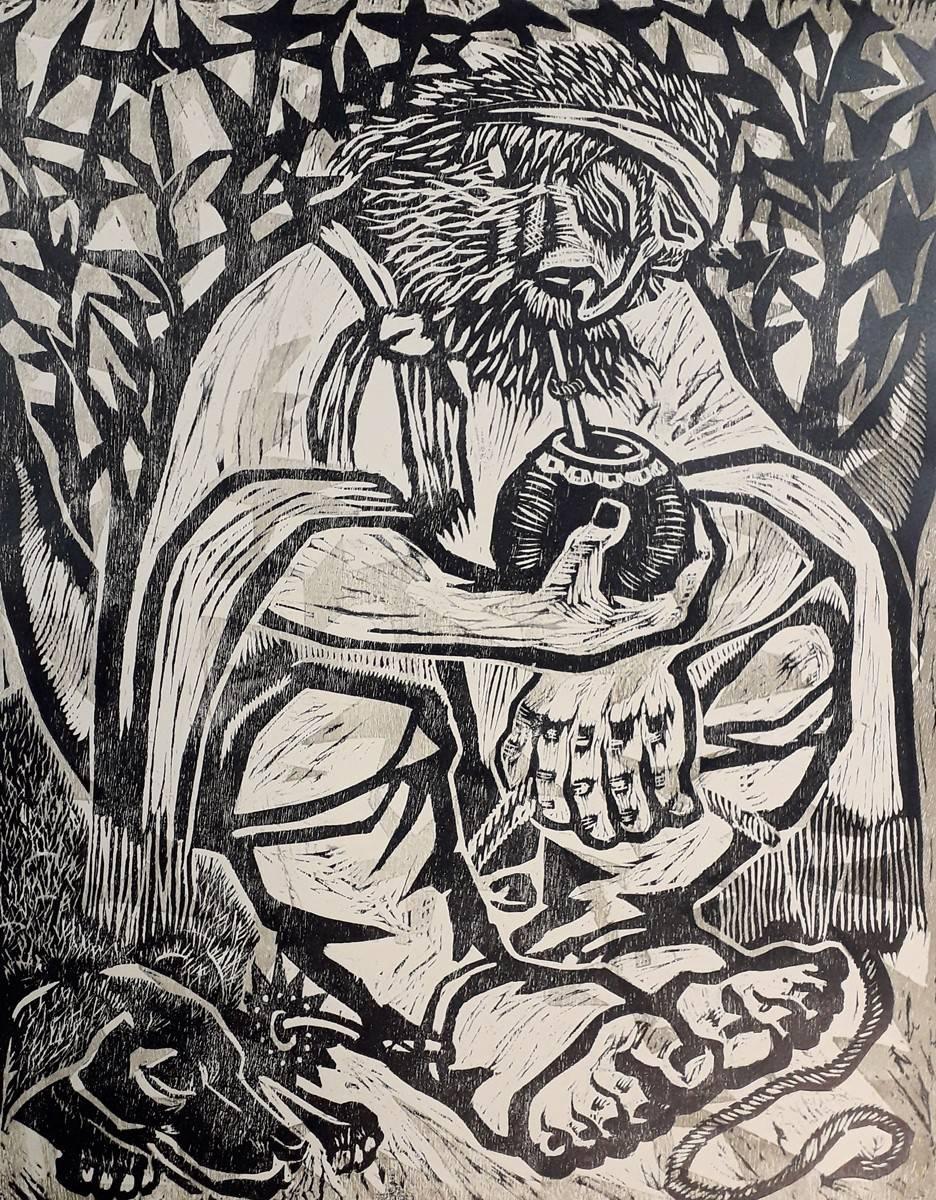 Obra ampliada: El viejo Vizcacha - Luis Mazzey