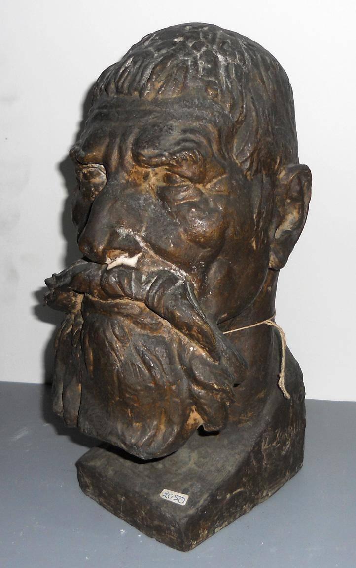 Obra ampliada: Cabeza de hombre - José Luis Zorrilla de San Martín