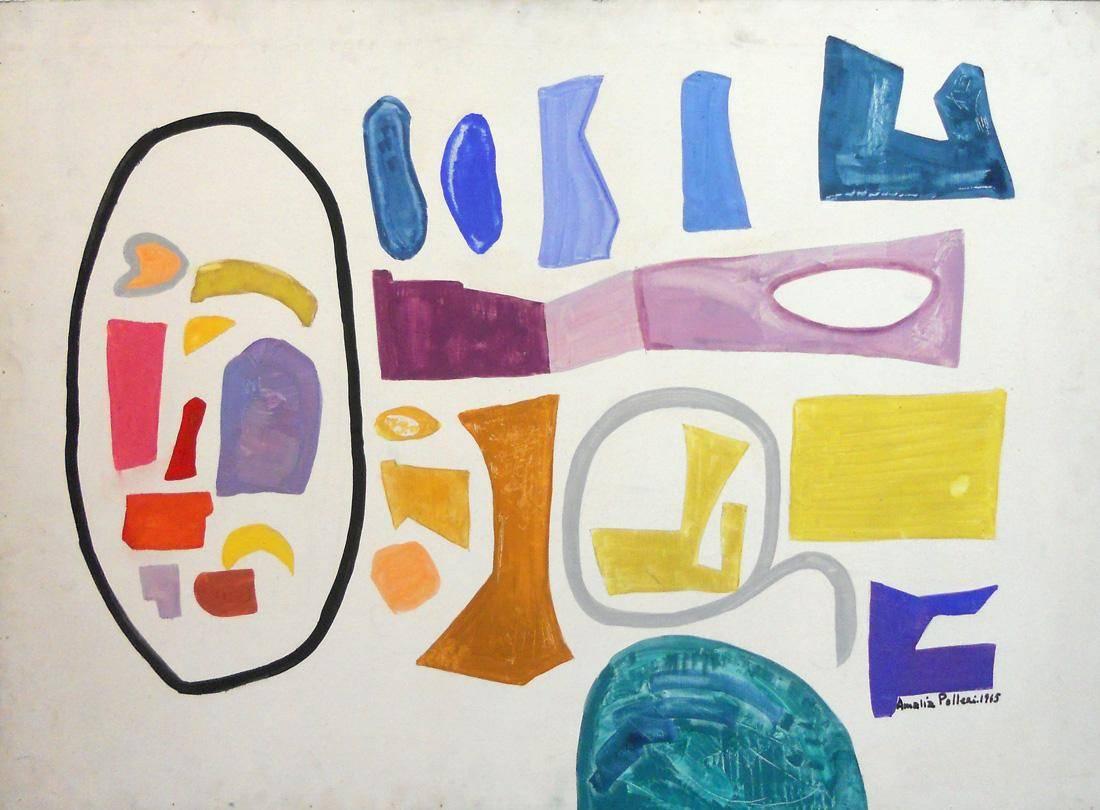 Obra ampliada: Caligrama 5 - Amalia Polleri de Viana