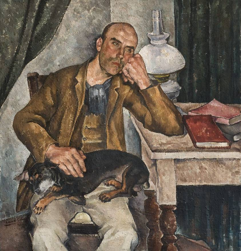 Obra ampliada: Retrato del pintor Pedro Sánchez - Genard Lahuerta