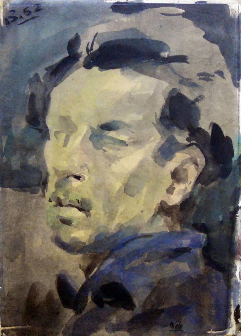 Obra ampliada: Estudio para autorretrato - Jorge Brito (o Britos)