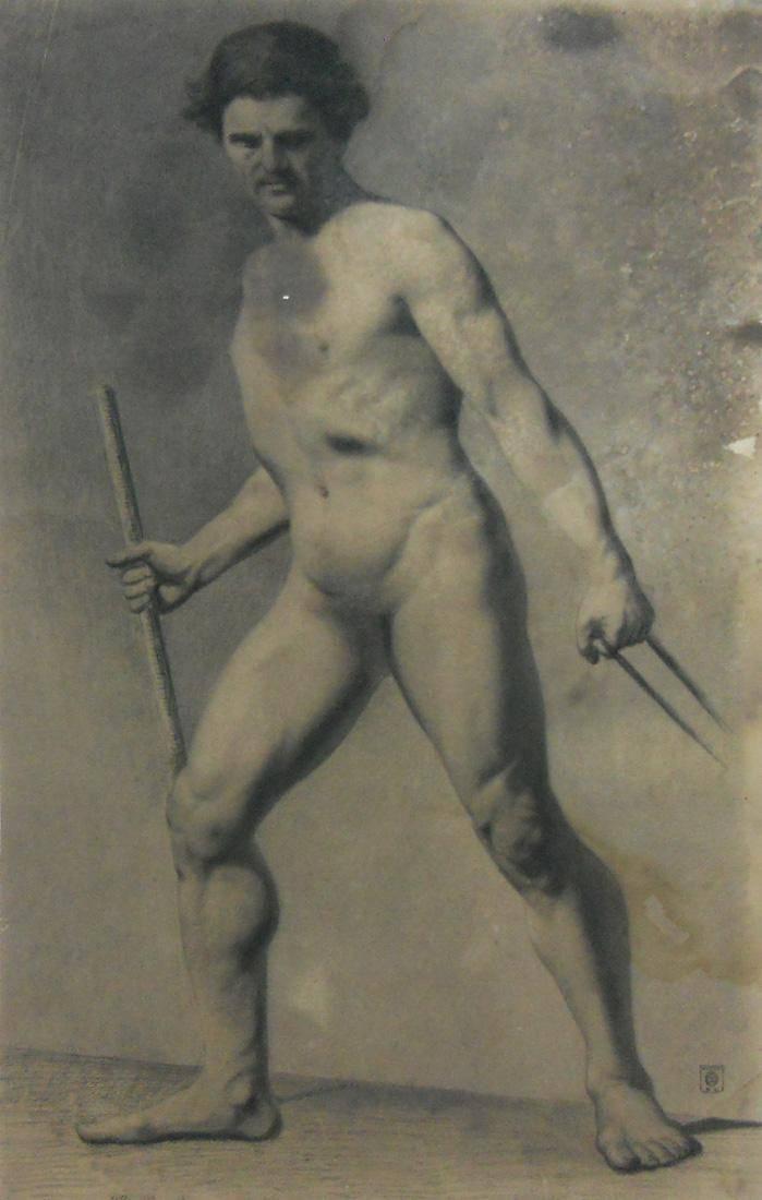 Obra ampliada: Academia - desnudo - Juan Manuel Blanes