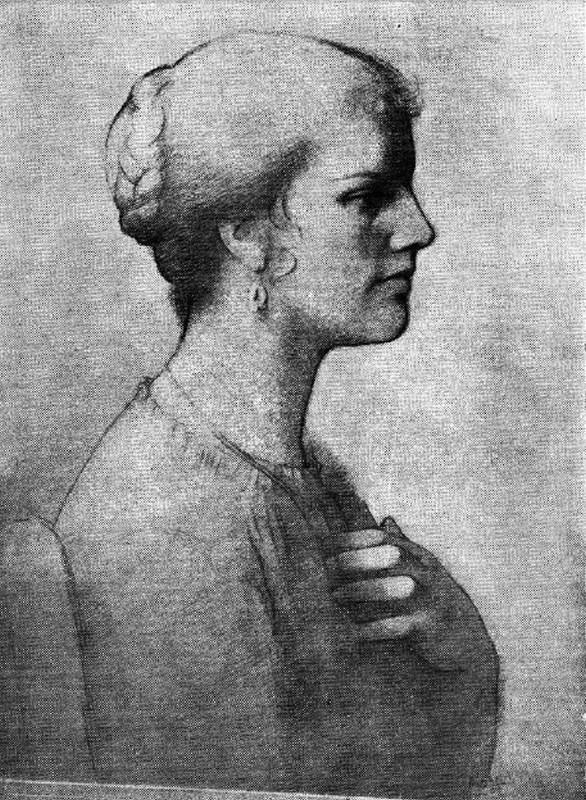 Obra ampliada: Retrato (Ara. Luisa Rodríguez Alles) - Edgardo Ribeiro